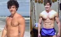 """TRANSFORMAREA senzationala a unui rugbyst de 23 de ani: """"M-am motivat de pe internet"""" FOTO"""