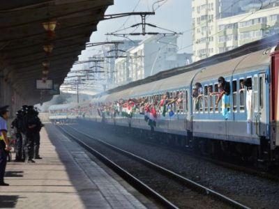 Singura parte amuzanta a deplasarii ultrasilor maghiari la Bucuresti! Ce au descoperit politistii in trenul venit din Ungaria: