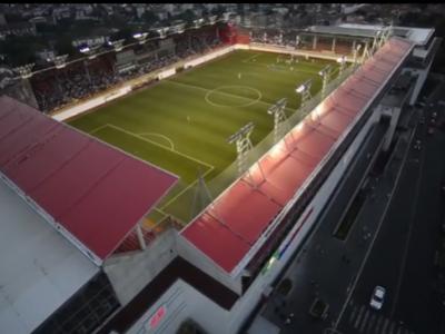 VIDEO BESTIAL! Si-au construit stadion pe acoperisul unui mall! Cel mai tare stadion din Serbia: