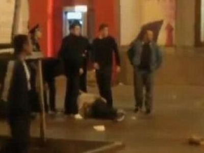 Scene de VIOLENTA incredibile! Trei fani englezi au fost INJUNGHIATI in Kiev de un grup de huligani: VIDEO