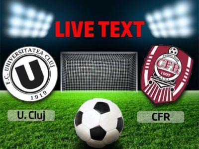 U Cluj 0-0 CFR! Prestatie dezamagitoare a CFR-ului lui Grigoras! Borza rateaza o ocazie MONUMENTALA in final! Toate fazele meciului: