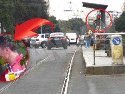 Probleme la Steaua! Nikolici s-a urcat BAUT la volan si a facut ravagii in trafic! IMAGINI INCREDIBILE cu atacantul Stelei: VIDEO
