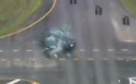 VIDEO SOCANT! Urmarire teribila pe strazi, un om e SPULBERAT de un infractor, criminalul s-a sinucis! Filmul tragic