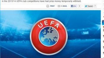 LOVITURA data de UEFA pentru un club din Romania! Decizia anuntata pe site-ul oficial:
