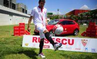 GESTUL fanilor lui Sevilla pentru Rusescu! Au incercat sa-l faca sa zambeasca si i-au creat o CARICATURA! Imaginea care a rupt Twitter-ul in doua:
