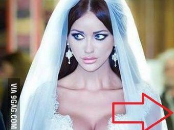 FOTO Imaginea zilei pe site-urile de umor! Cu cine seamana MIREASA Bianca Dragusanu!