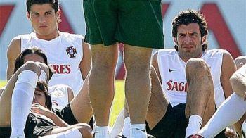 """Portughezii NU ne vor la baraj: """"Teoria nu e la fel cu practica!"""" Ce adversar ii doreste Figo lui Cristiano Ronaldo:"""