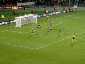 NEBUNIE curata in Grecia! PAOK a revenit de la 0-2, a ratat doua penalty-uri si a castigat cu un gol NOROCOS! 3-2 cu Maccabi Haifa! Rezumat VIDEO