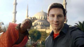 GENIAL! Messi si Kobe Bryant fac show total in ultima reclama: Leo, poze cu maimuta; Kobe, lins de un leu pe fata! Cum l-a 'trollat' baschetbalistul pe Messi :)