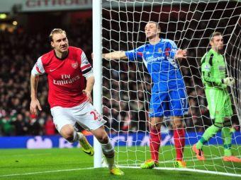 """Mori de RAS! Cea mai ciudata promisiune a unui suporter! """"Sigur nu da Bendtner gol!"""" Ce a facut un fan al lui Arsenal dupa ce danezul a dat gol:"""