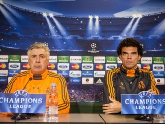 Ancelotti si Pepe, SOCATI la conferinta de presa de la Copenhaga! Protest incredibil! Ce au facut mai multi activisti Greenpeace: FOTO