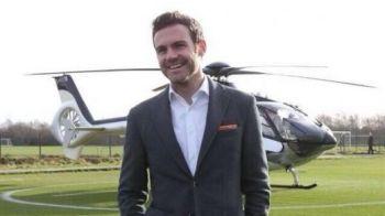 A fost primit ca un ZEU! Juan Mata a aterizat direct pe terenul de antrenamente! Cine l-a intampinat pe starul spaniol: VIDEO