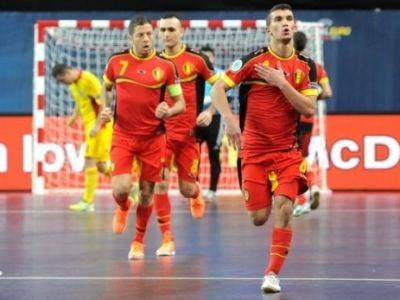 Gest oribil in meciul de futsal cu Belgia! Un adversar a jignit o tara intreaga! Ce reactie a avut dupa gol: FOTO