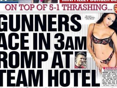 Scandal MONSTRU dupa ce Arsenal a fost calcata in picioare de Liverpool! O vedeta a petrecut in hotel cu un SUPER model inainte de meci