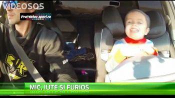 Experienta nebuna pentru un copil de 2 ani. Tatal sau l-a luat in masina si s-a apucat sa faca drifturi VIDEO