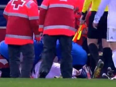 Oribil! Ronaldo a fost lovit in cap de o bricheta aruncata din tribune! S-a prabusit pe teren! VIDEO