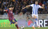 Barcelona - Real Madrid e Finala Cupei! Barca a facut 1-1 cu Sociedad, Messi l-a egalat pe cel mai bun marcator din istoria Spaniei. VIDEO