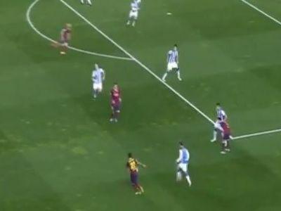 Momentul care arata ca Barcelona a ramas extraterestra! Ce au facut Messi si Dani Alves cu Sociedad