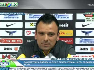 """El a fost antrenorul Stelei la primul meci oficial din 2014: """"M-a incantat jocul echipei!"""" Cine a decis ca Sanmartean sa bata penalty-ul:"""