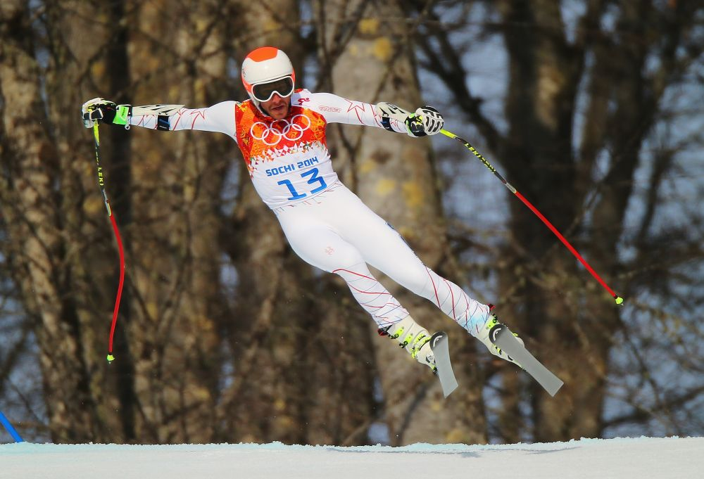 Bode Miller (Statele Unite) in timpul Alpine Skiing Men's Super-G