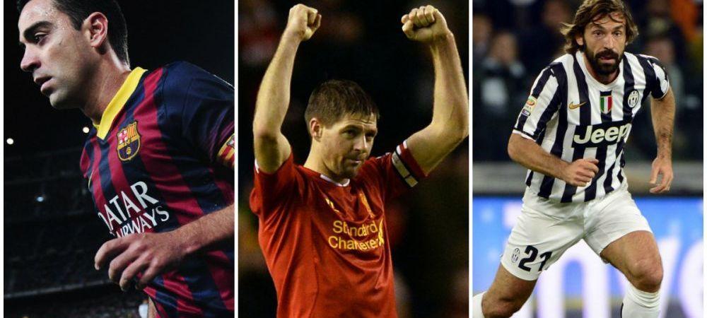 Tipul de jucator aflat pe cale de disparitie. 4 jucatori care le pot lua locul lui Gerrard, Pirlo si Xavi