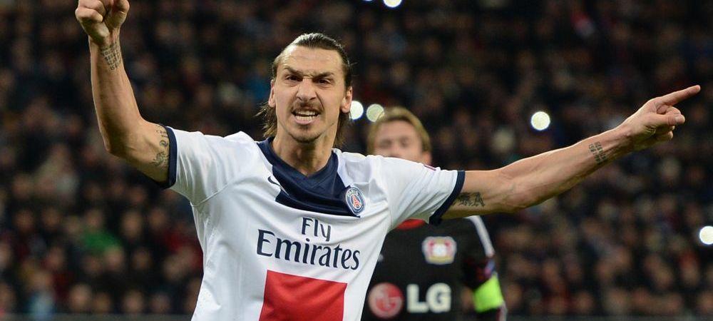 Bayer Leverkusen 0-4 PSG! Torpila de senzatie a lui Ibra: 103 km/h, Zlatan isi pierde permisul :) PSG e aproape calificata in sferturi