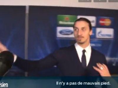 """Zlatan a facut SENZATIE dupa golul de vis din Liga! """"Ai dat gol cu piciorul mai slab?"""" Reactia lui in fata jurnalistilor e dementiala"""