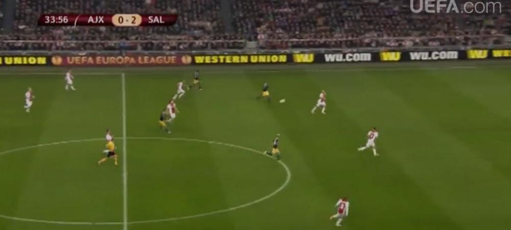 VIDEO: Golul serii in Europa League! Ajax a primit gol de la 50 de metri la fix un an dupa infrangerea suferita pe National Arena!