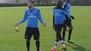 FOTO Incident la antrenamentul lui Arsenal! Jucatorii lui Wenger sunt cu nervii intinsi la maxim! Ce s-a intamplat intre Wilshere si Flamini: