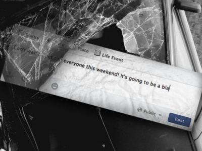 FOTO LIKE Later! Campanie impotriva celor care stau pe Facebook in timp ce conduc! Ce se poate intampla!