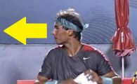 Nadal a uitat complet de tenis! :) A luat o pauza la marginea terenului si NU si-a mai revenit! Cine l-a uimit! FOTO si VIDEO