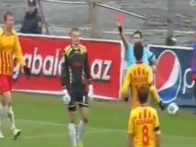 Moment nemaivazut pe terenul de fotbal! Un portar a fost eliminat imediat dupa ce aparase un penalty! Ce a facut imediat dupa faza VIDEO