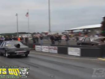 Liniuta cu final neasteptat! Ce se intampla cu o masina de 2000 de cai dupa start! VIDEO