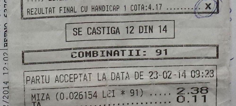 PARIUL anului in Romania: a nimerit 13 si 14 meciuri IMPOSIBILE! Castig urias: peste 130.000 de lei! FOTO