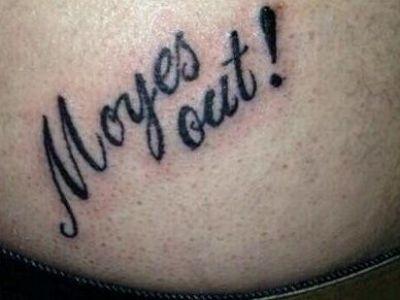 Cel mai disperat fan din Anglia. Ce si-a tatuat acest barbat pe corp dupa ce United a pierdut in Grecia