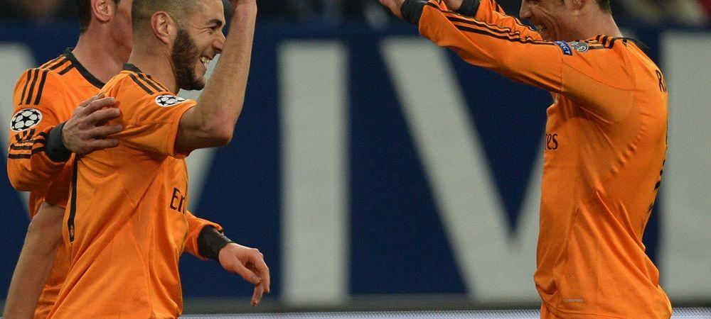 Evolutia PERFECTA cu care a distrus-o pe Schalke. Bale si Ronaldo au fost eclipsati de Benzema. Performanta COLOSALA realizata de atacantul Realului