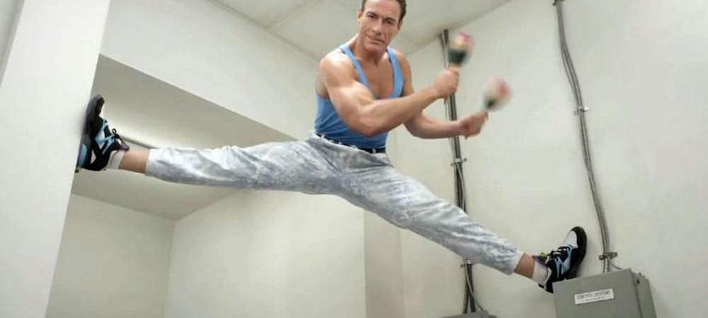 Van Damme a venit in Romania si a facut celebrul sau SPAGAT! Care sunt sportivii sai romani preferati