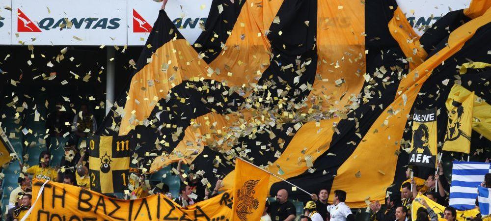 Echipa care supravietuieste doar prin suporteri! Grecii de la AEK nu l-au uitat pe Toni Dobos, la 14 de ani de cand juca pentru echipa lor! Imagini superbe: