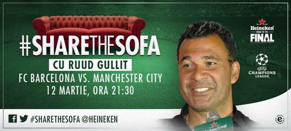 Daca l-ai avea langa tine, ce l-ai intreba pe marele Gullit? Diseara vedeti Barca - City impreuna, ce pronostic ai?