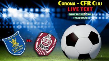 Corona Brasov 2-2 CFR Cluj! CFR-ul continua sa scartaie, Corona egaleaza dupa ce a fost condusa cu 2-0! Vezi fazele meciului: