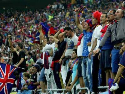 """GESTUL fanilor Stelei la meciul cu Gaz Metan! """"Afara cu ungurii din tara!"""" Ce s-a intamplat in tribune de ziua Ungariei:"""