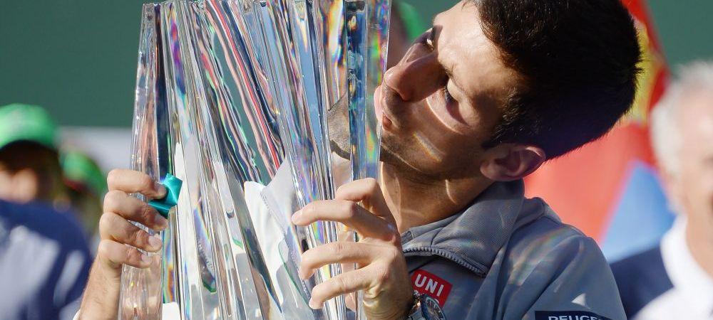 Victoria de 1 milion de dolari! Djokovic a castigat al 42-lea trofeu din cariera sa, dupa victoria superba cu Federer la Indian Wells