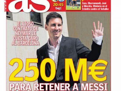 Afacerea de 250.000.000 de euro! Messi s-a enervat cand a aflat ca Neymar castiga mai bine ca el! Ce ultimatum i-a dat Barcei