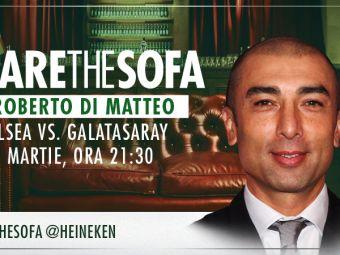 Roberto di Matteo vine pe canapeaua virtuala Heineken pentru a comenta meciul Chelesea - Galatasaray