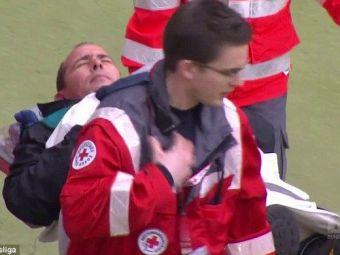 Scene de GROAZA in Bundesliga! Un cameraman a plecat inconstient de la stadion! Ce s-a intamplat in timpul meciului VIDEO