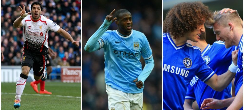 Nebunie in Anglia in 3 meciuri! Chelsea, Liverpool si Man City au marcat 17 goluri! Yaya Toure, Suarez si Oscar au fost dementiali! Cei doi fundasi deveniti eroi