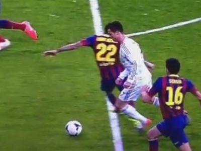 Cum a fost falsificat golul lui Cristiano Ronaldo din penalty cu Barcelona! Unde s-a produs faultul. VIDEO