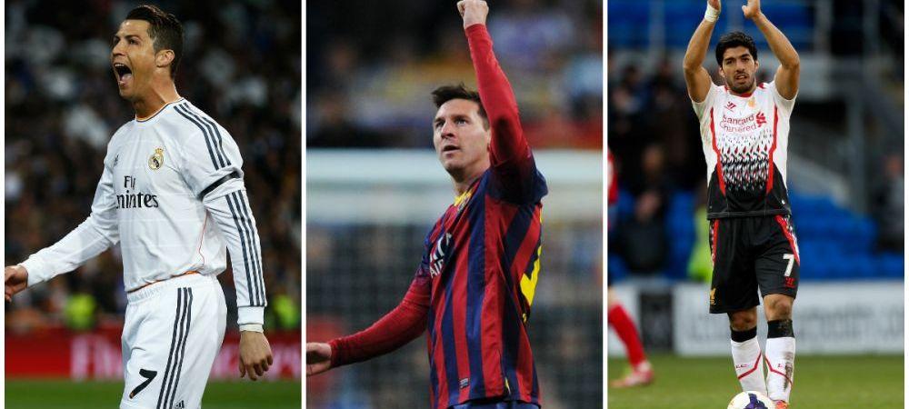 Invins de Barcelona lui Messi, batut si de Suarez! Ronaldo a cazut pe locul doi in clasamentul Ghetei de Aur, rivalul Messi s-a apropiat de top