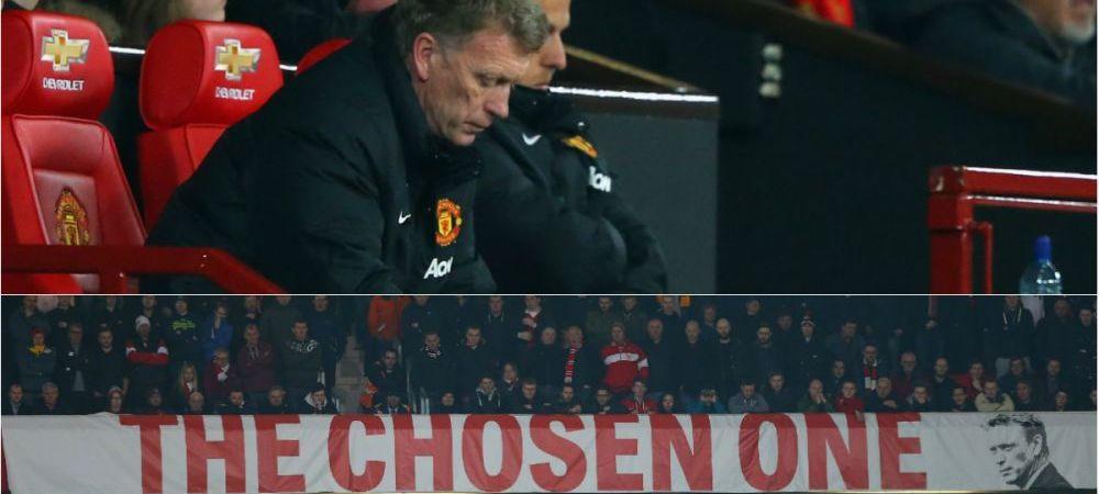 Scene incredibile pe Old Trafford! Moyes statea linistit in tribuna, apoi a urmat NEBUNIA! Steward-ul a intervenit de URGENTA!
