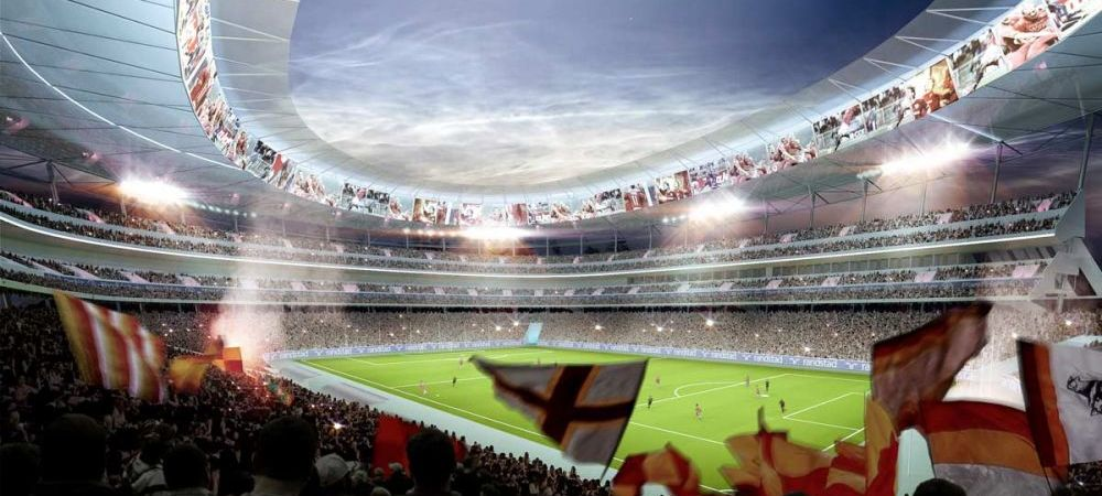 """""""E un Colosseum modern!"""" Asa arata noul stadion al Romei. Americanii investesc 1 MILIARD de euro pentru noua arena. FOTO"""